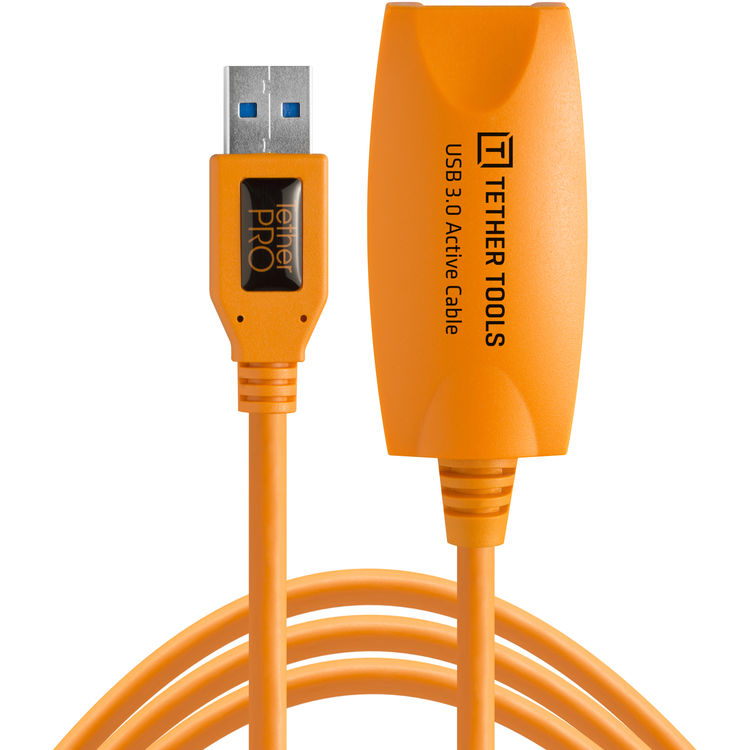 Кабель-удлинитель Tether Tools TetherPro USB 3.0 to USB Female Active активный 5m Orange